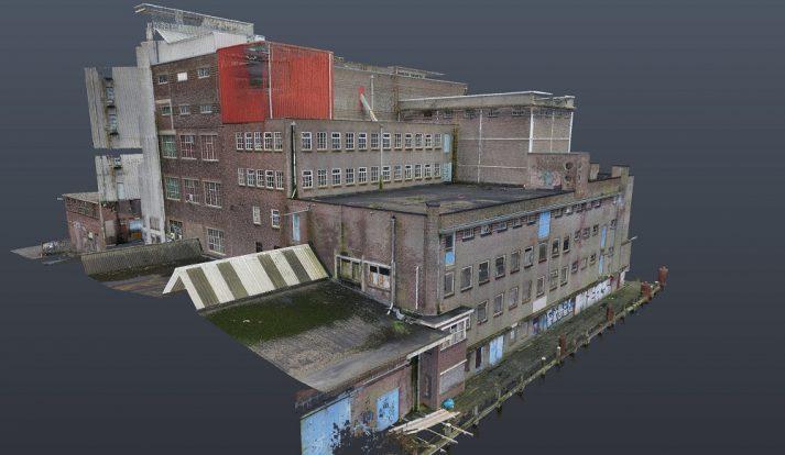 Pointcloud gemaakt met drone-data i.c.m. laserscanning