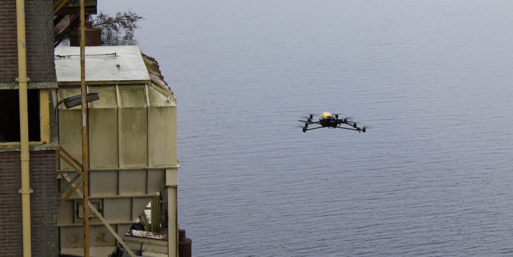 3D meten met drone boven water