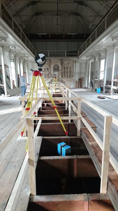 3D scannen vloerconstructie Groote Museum