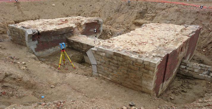 3D scanning archeologie Spaanse Omwalling Antwerpen