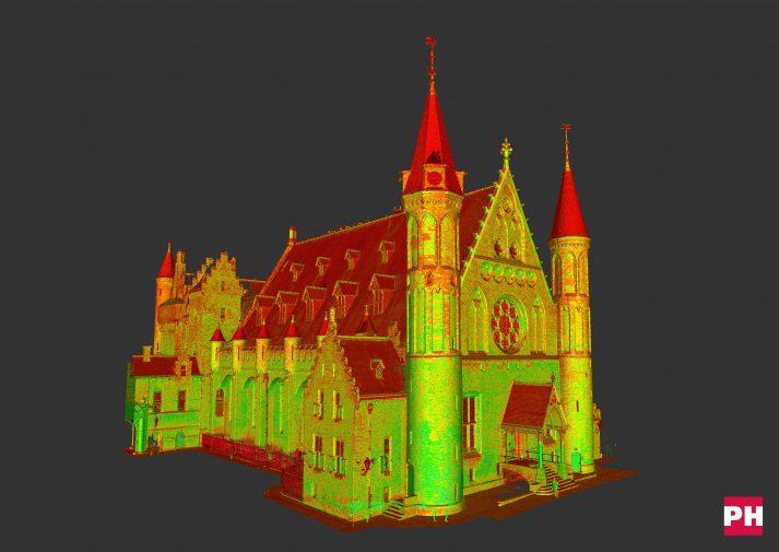 Pointcloud 3D scan Ridderzaal Grafelijke Zalen Den Haag