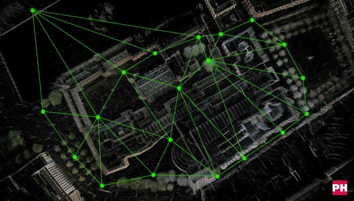 Referentie netwerk 3D scannen gebouwencomplex Binnenhof Den Haag