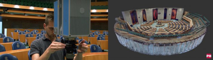 3D scan Tweede Kamer Den Haag