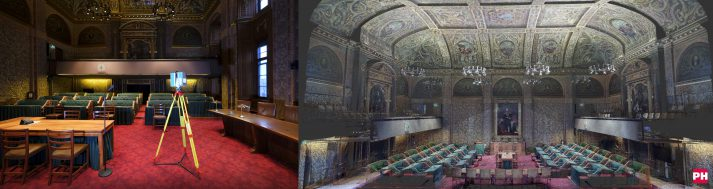 3D scan kleur Ridderzaal Den Haag