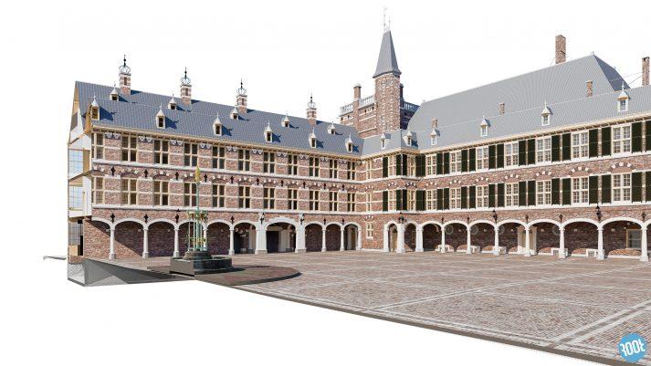 BIm 3D model Bouwdeel Raad van State proefproject