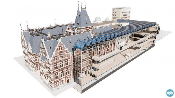 BIM model Binnenhof