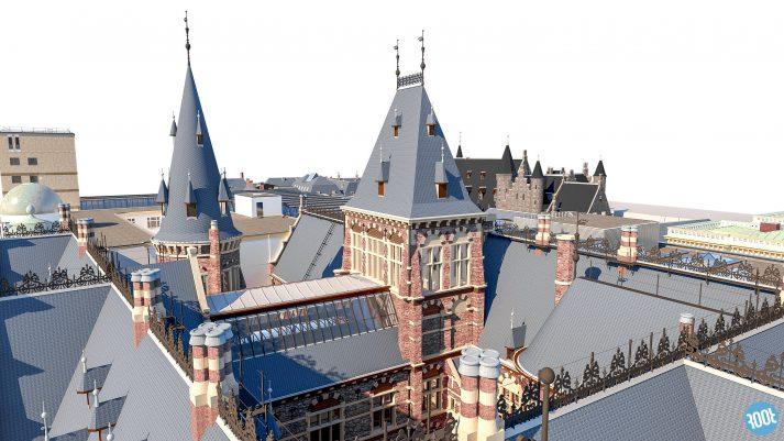 3D model Binnenhof Den Haag PelserHartman