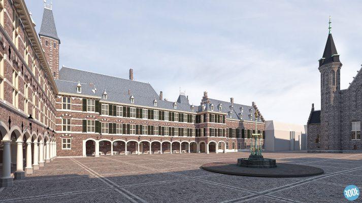 Uitsnede 3D BIM model Binnenhof Den Haag
