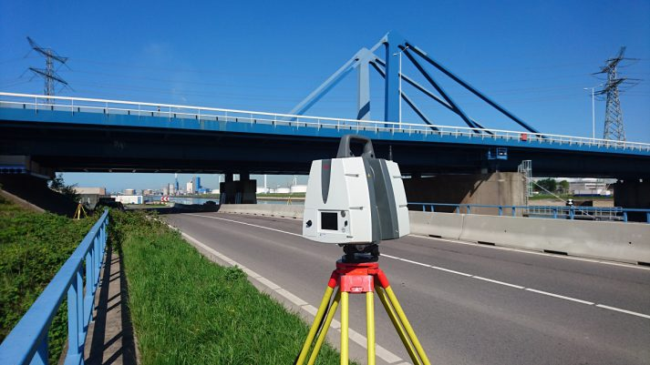 3D inmeten Suurhoffbrug Europoort