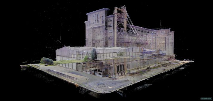 point cloud 3D scan documentatie SAMGA