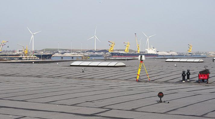 3D laserscanner inmeten daken voor zonnepanelen