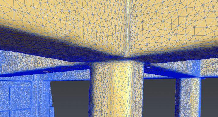 mesh 3D scan kleine driehoekjes