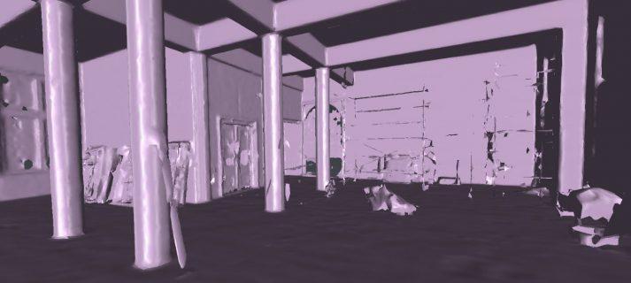 Mesh 3D model van pointcloud