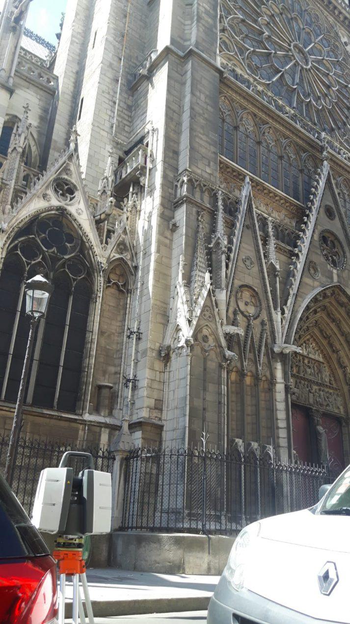 3D scan kerk Notre Dame