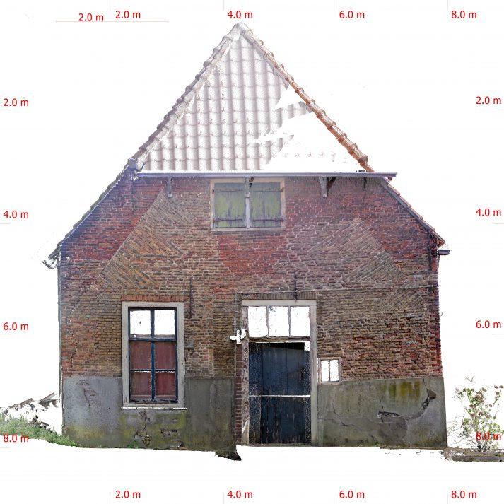 Orthofoto 3d scan historisch gebouwen