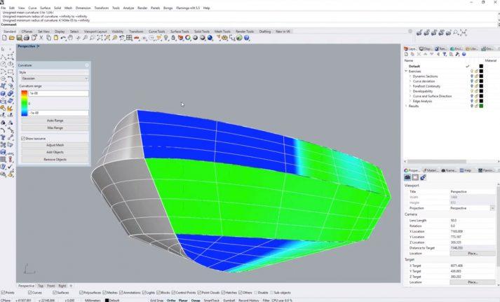 Rhino 3D modelleerprogramma voor jachten en schepen (Bron: YouTube Rhino)