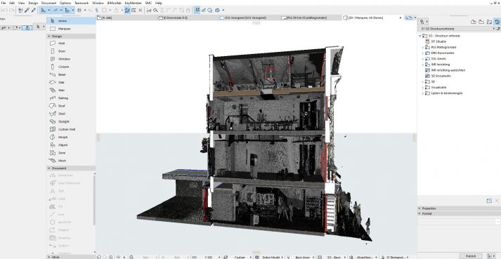 Online trainingen modelleren met pointclouds