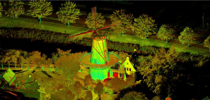 pointcloud voor monitoring verzakking