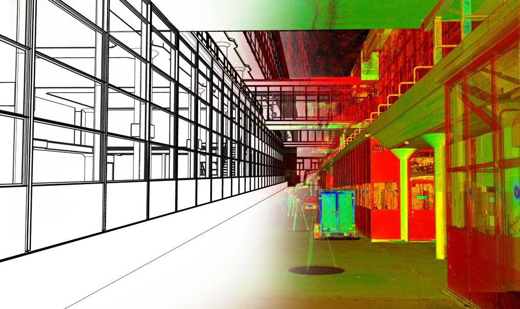 Pointclouds worden in BIM software Revit omgezet naar 3D modellen