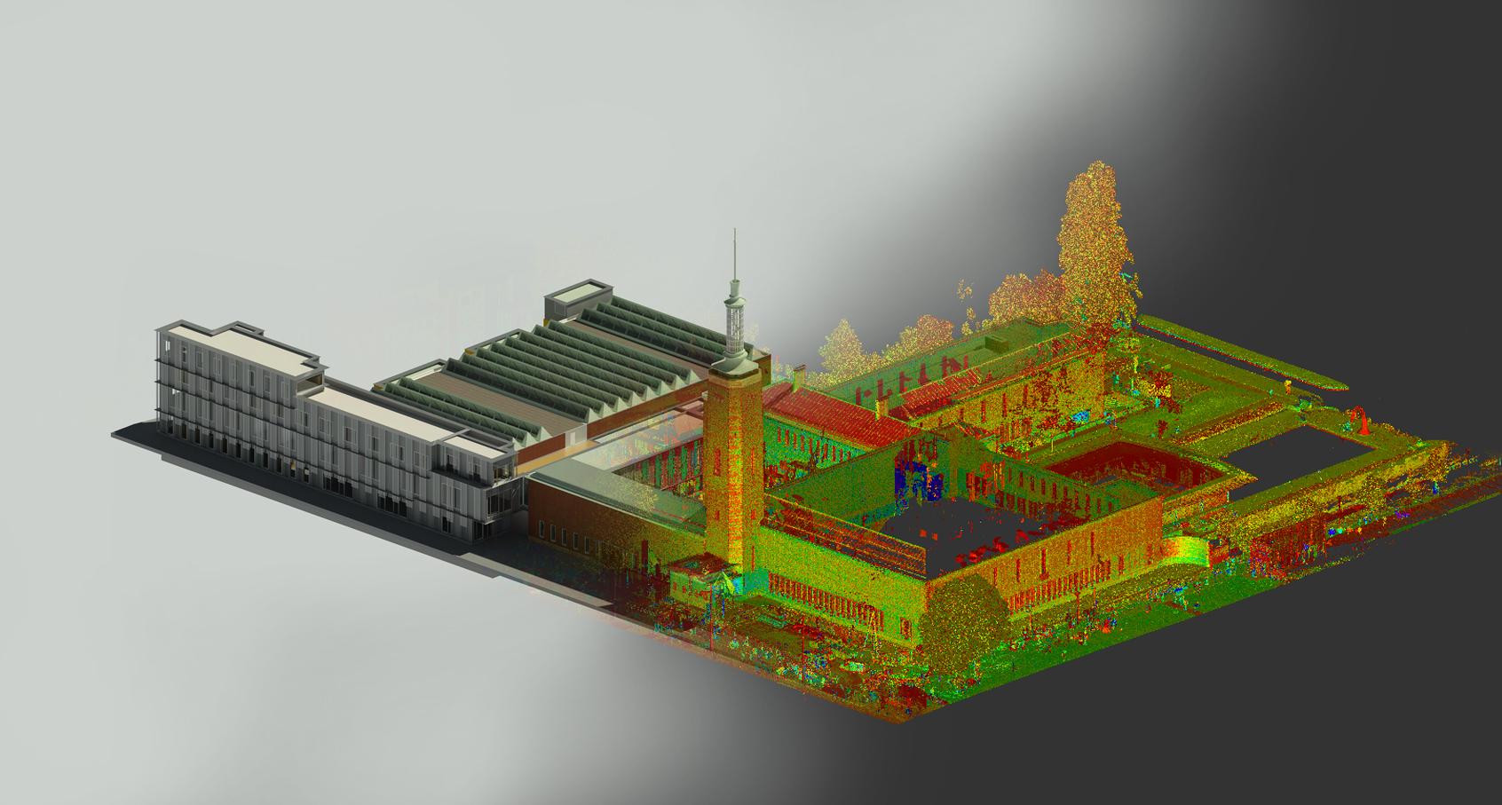 Van pointcloud naar 3D BIM museum Boijmans van Beuningen