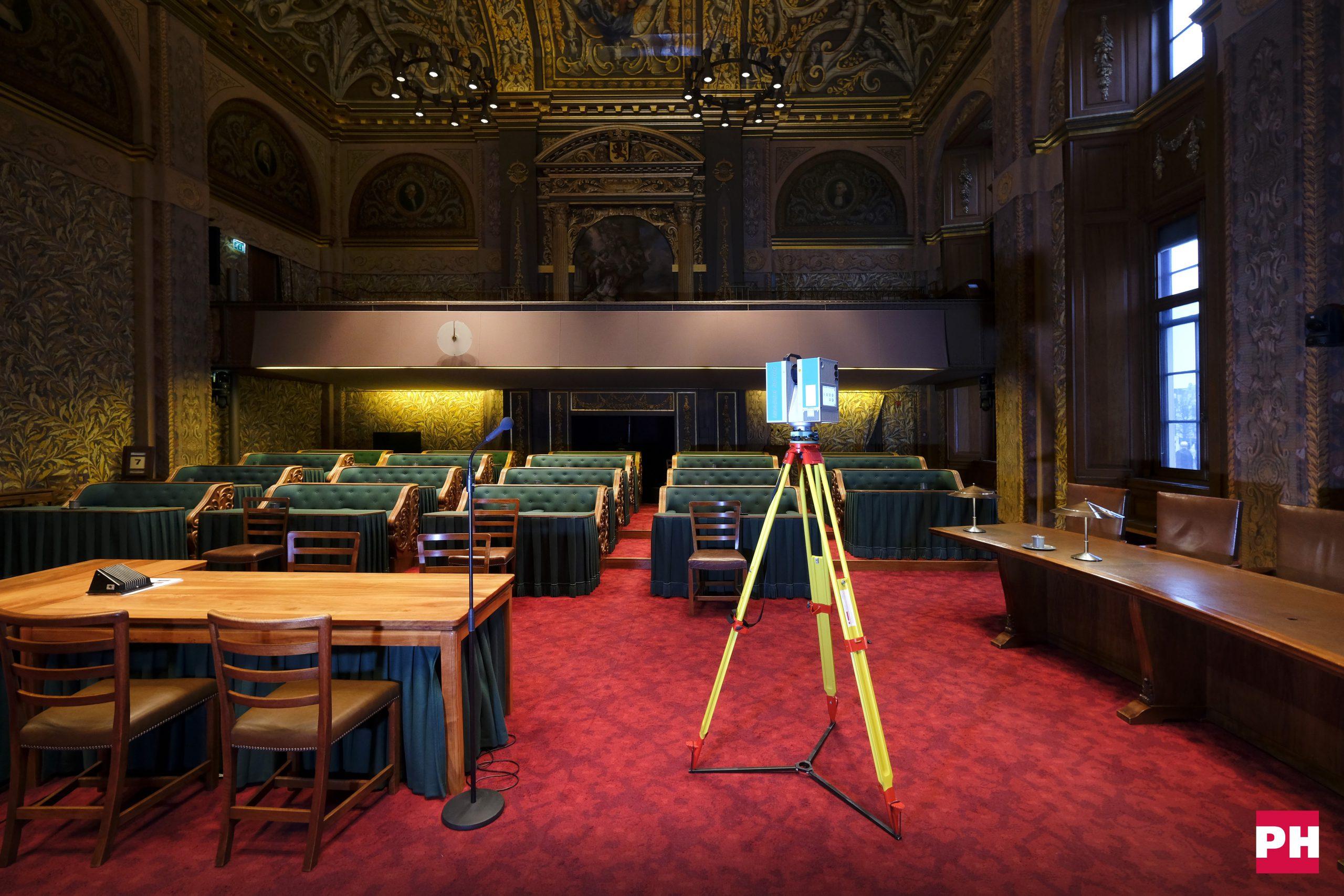 3D inmeten met 3D laserscanners van Eerste Kamer Binnenhof Den Haag