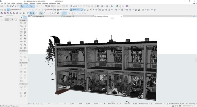 Modelleren met pointcloud in Archicad