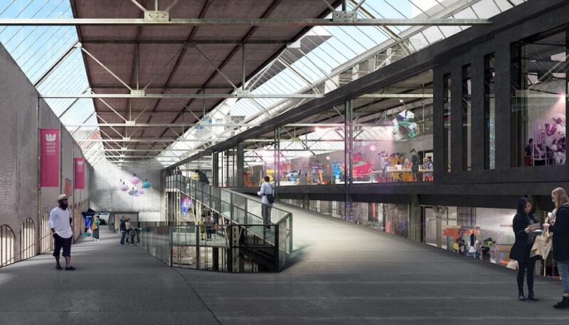Ontwerp van de herbestemming van de voormalige garage op het VDMA terrein, Eindhoven